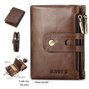 KAVIS Genuine Leather Wallet